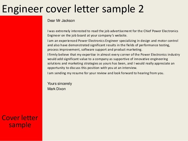 Manufacturing Engineering Cover Letters