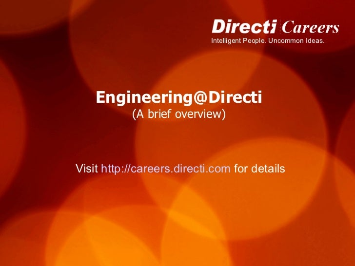 Engineering Presentation for Careers@Directi