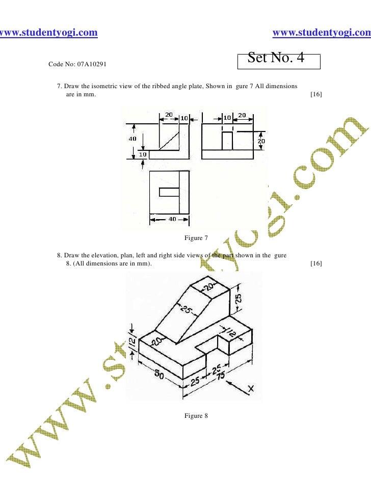 Engineering Drawing Jntu Model Paper{Www.Studentyogi.Com}