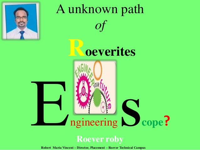 Engineering   scope & issues - roever roby