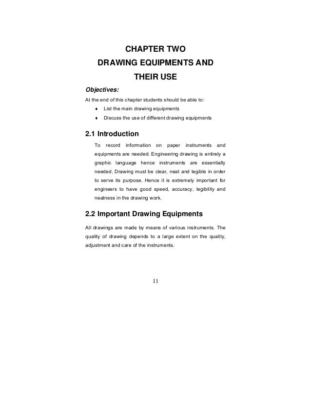 Purpose of Engineering Drawings 11 Chapter Two Drawing