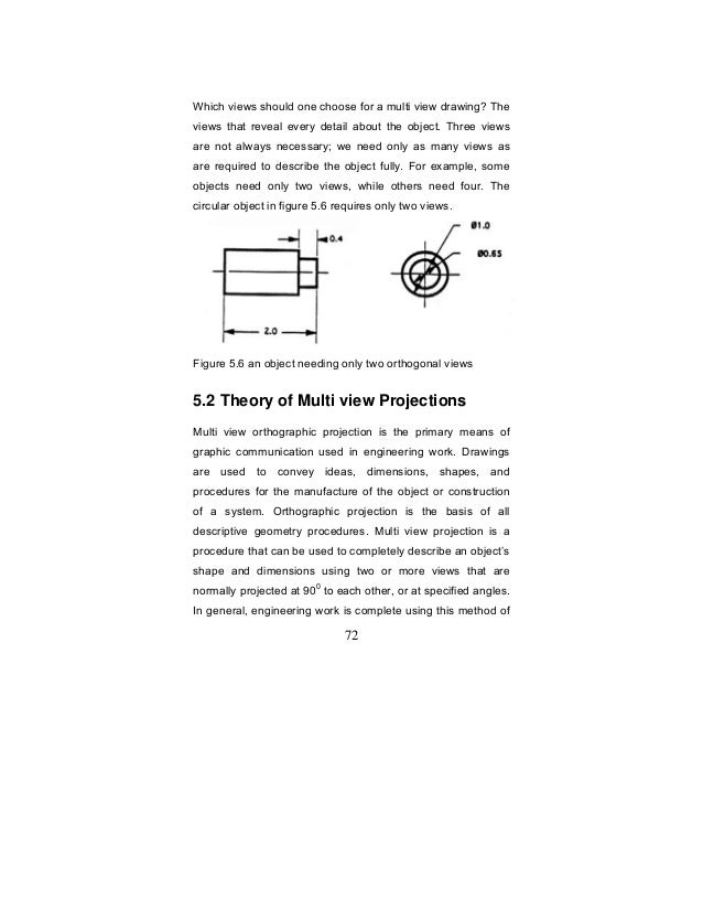 Purpose of Engineering Drawings For a Multi View Drawing