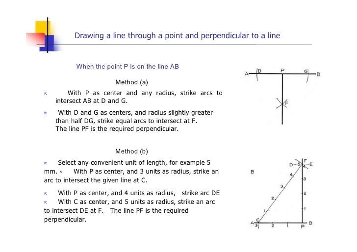 Midpoint Line Drawing Algorithm Example : Engineering drawing geometric construction lesson