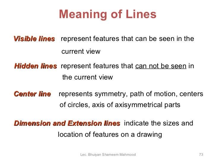 Drawing Lines Engineering : Engineering drawing