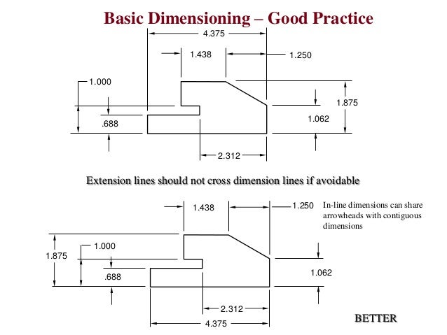 Basic Engineering Drawing Basic Dimensioning – Good