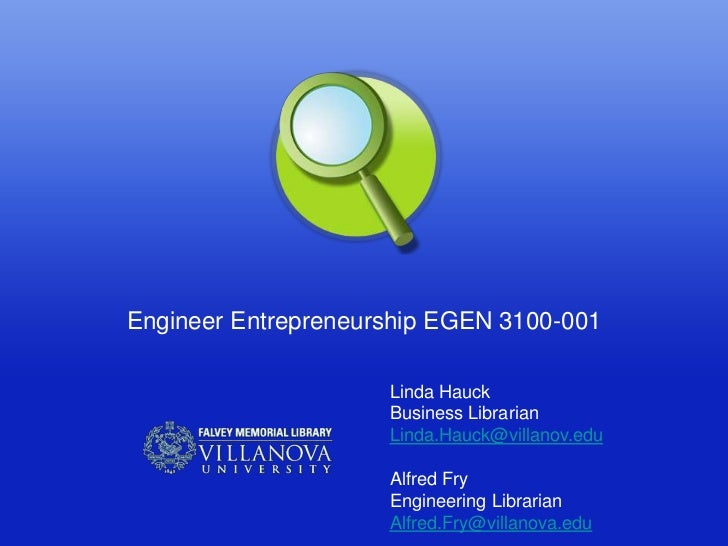 Engineering entepreneurship fall 2012