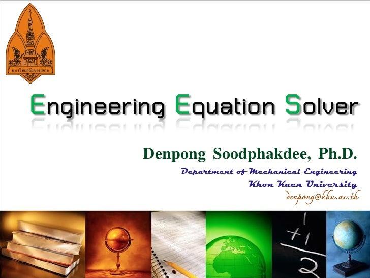 Engineering Equation Solver (Thai)
