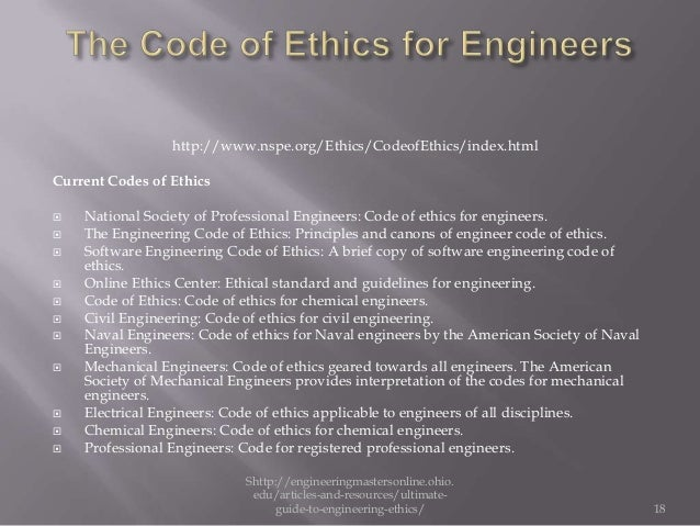 ethics of engineering essay Engineering ethics essays as an engineer and as a human being, human safety should always come first companies should not put the amount of money they could.