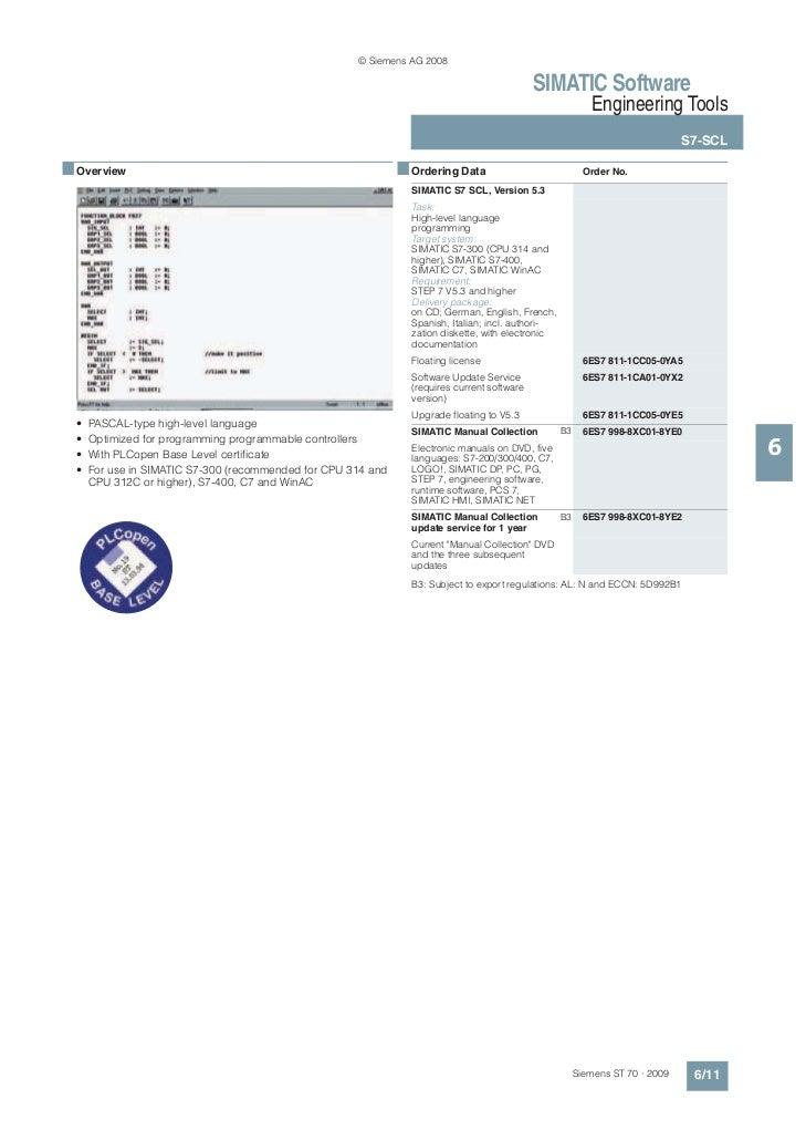 Engineering tools   simatic software