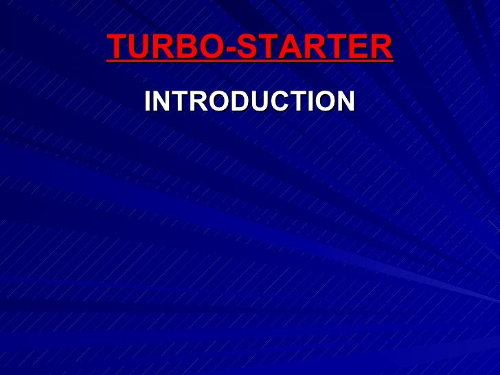 Engine turbo starters