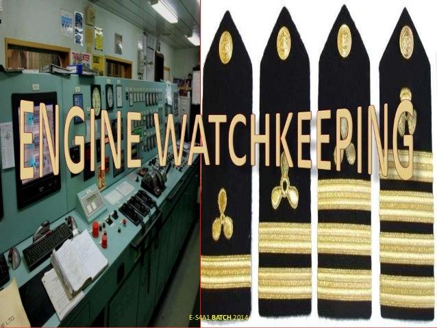 Engine Watchkeeping