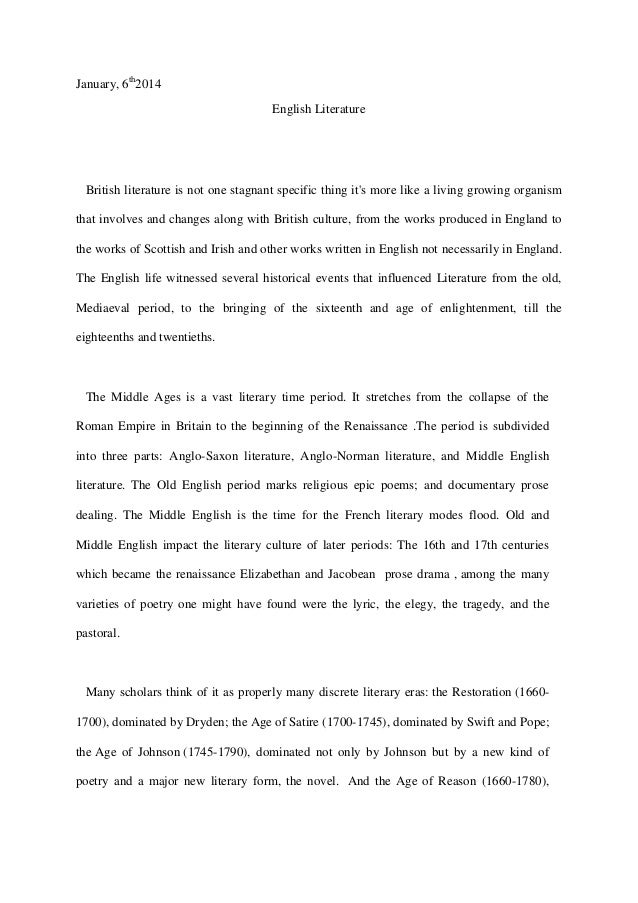 english literature free response sample essays question 2 - AP English ...