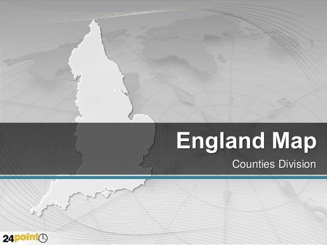 England: PPT Editable Map