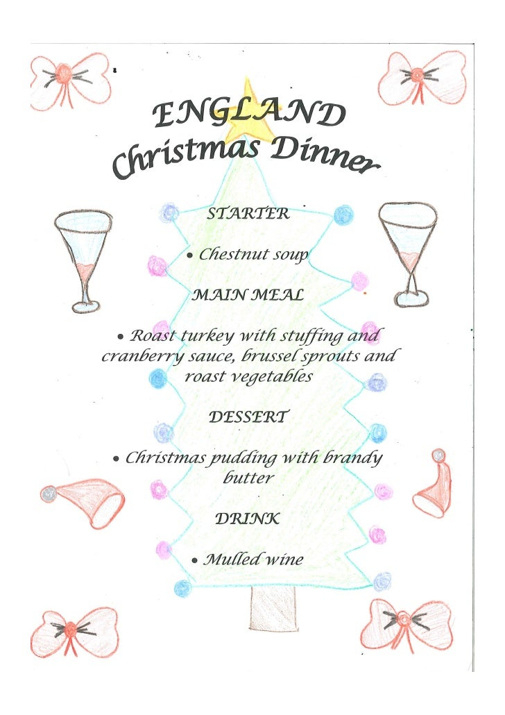 England Christmas Dinner