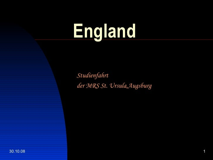 England Studienfahrt  der MRS St. Ursula,Augsburg