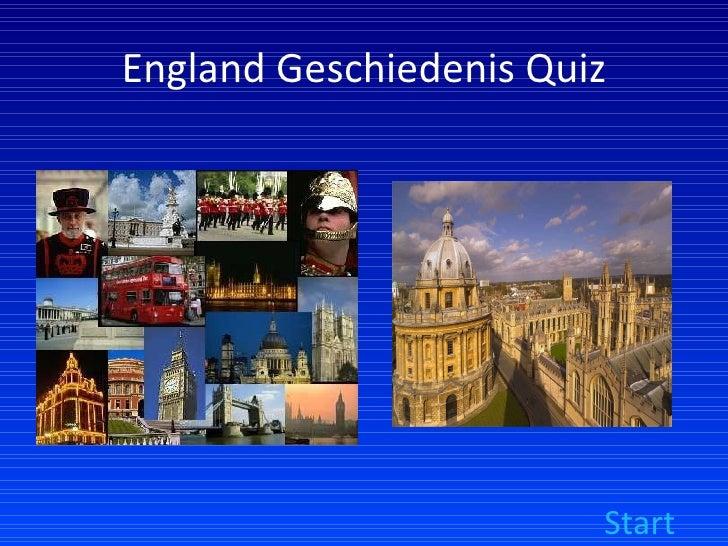 England Geschiedenis Quiz Start