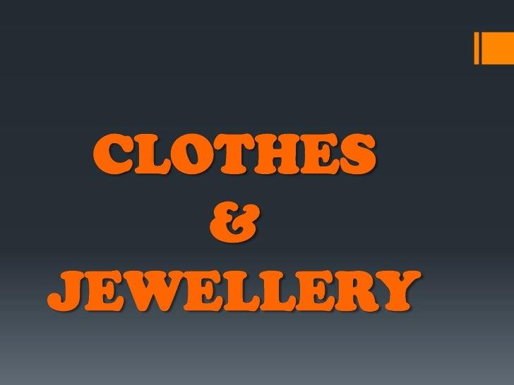 Engleski jezik - Clothes And Jewellery