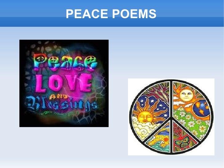 PEACE POEMS