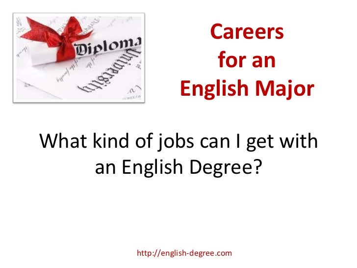 Careers                          for an                      English MajorWhat kind of jobs can I get with     an English ...
