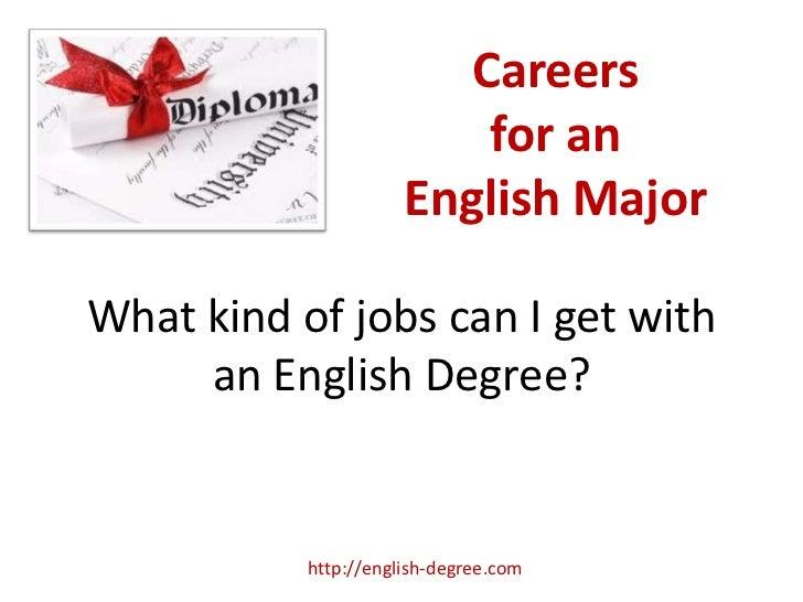 English Degree Careers