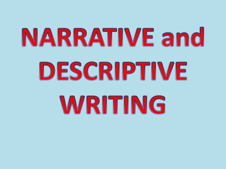 english descriptive writing