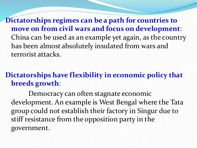 does india need dictatorship Do we need a presidential system dictatorship is not the result of a particular type of governmental system does india need this.