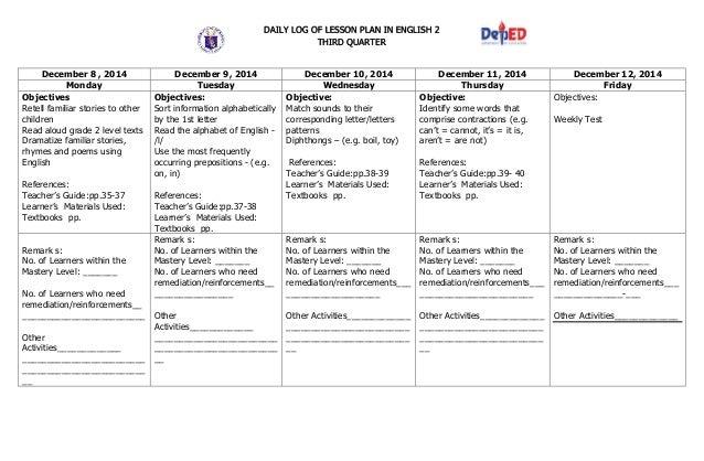 Lesson Plan For Grade 3 K To 12 - lesson plan grade 3 2nd quarter arts ...