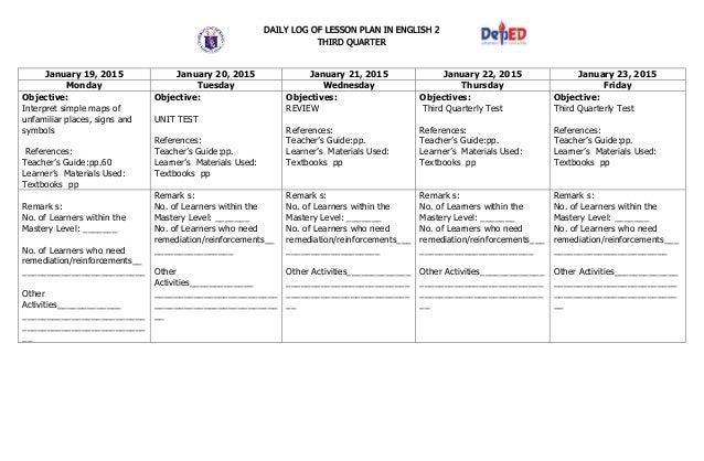 mark detailed lesson plan