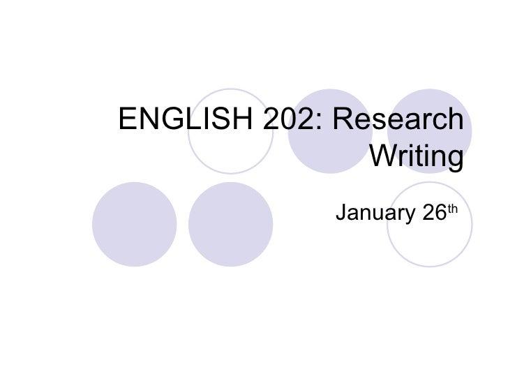 English 202 Jan 26