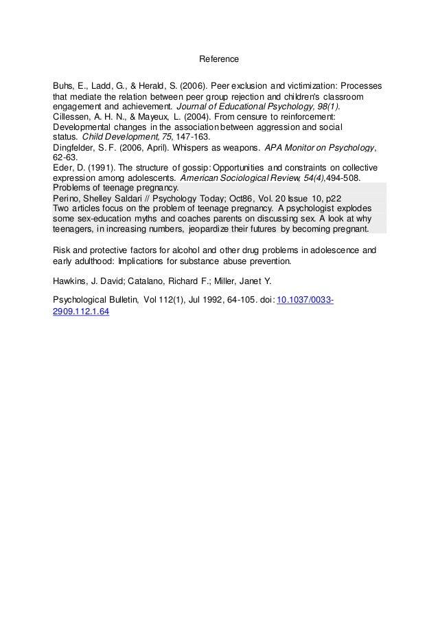 Journal Essay Format Information