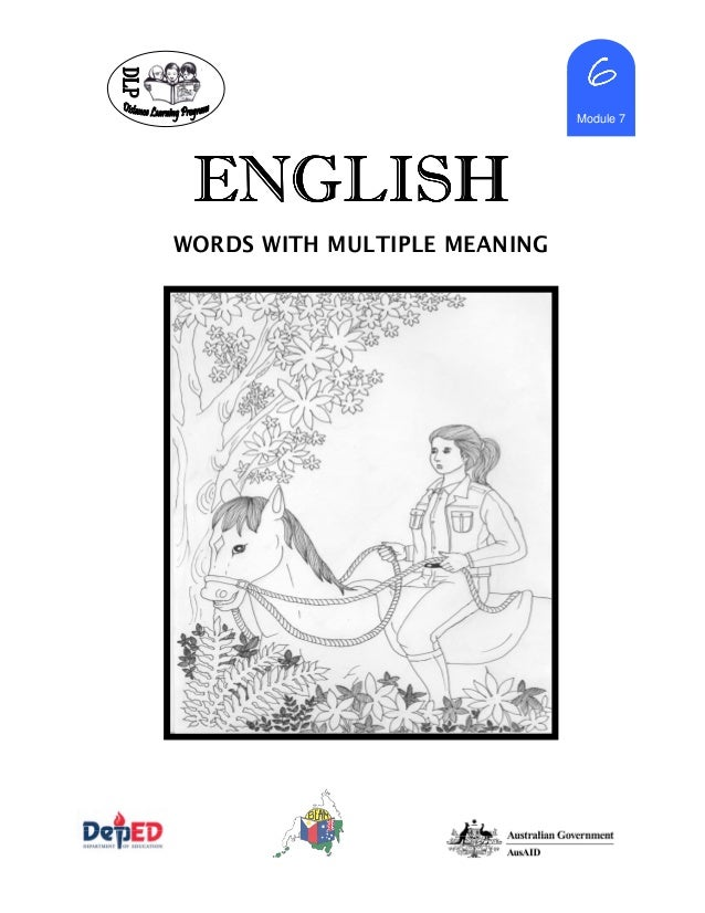 English 6-dlp-7-words-with-multiple-meaning