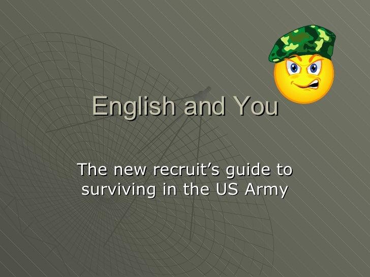 English And  You