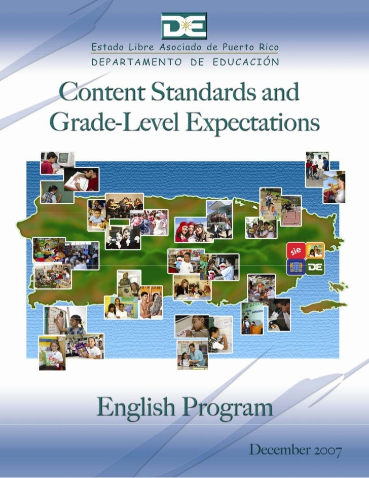 English Content Standards and Expectations - Department of Education of PR