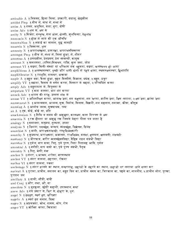 hindi hindi english dictionary free download
