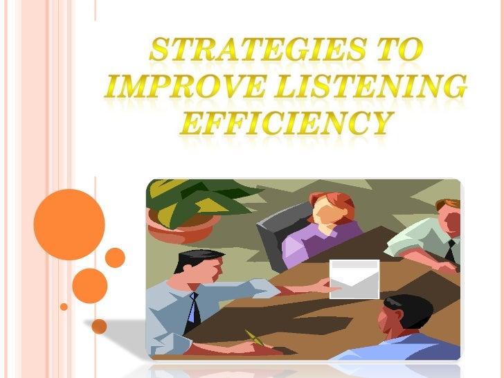 English (Improving Listening Efficency)