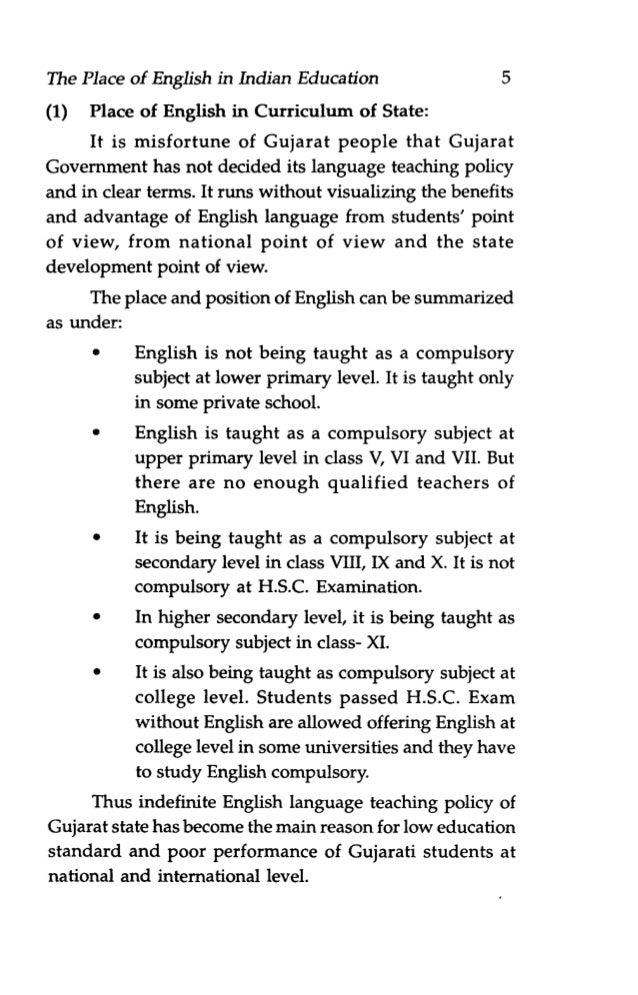 Value of english language essay format