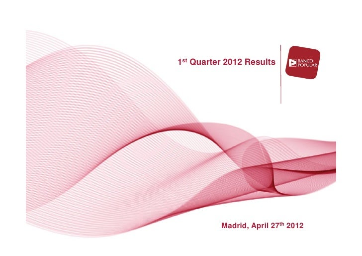 Angel Ron: Banco Popular Third Quarter 2012 Results Crisis