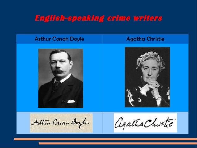 English speaking crime writers