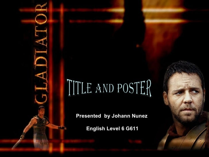 """English Title and poster """"Gladiator"""""""