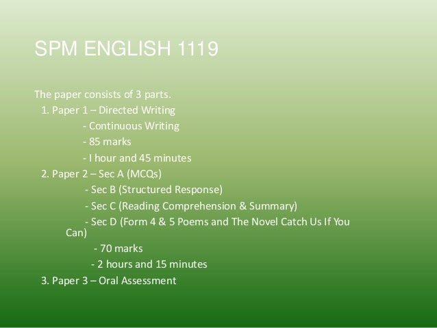 english 1119 essay Spm sample of essays - directed writing spm sample of essays write better compositions and summaries for spm 1119 english/oxford fajar/2006 directed.
