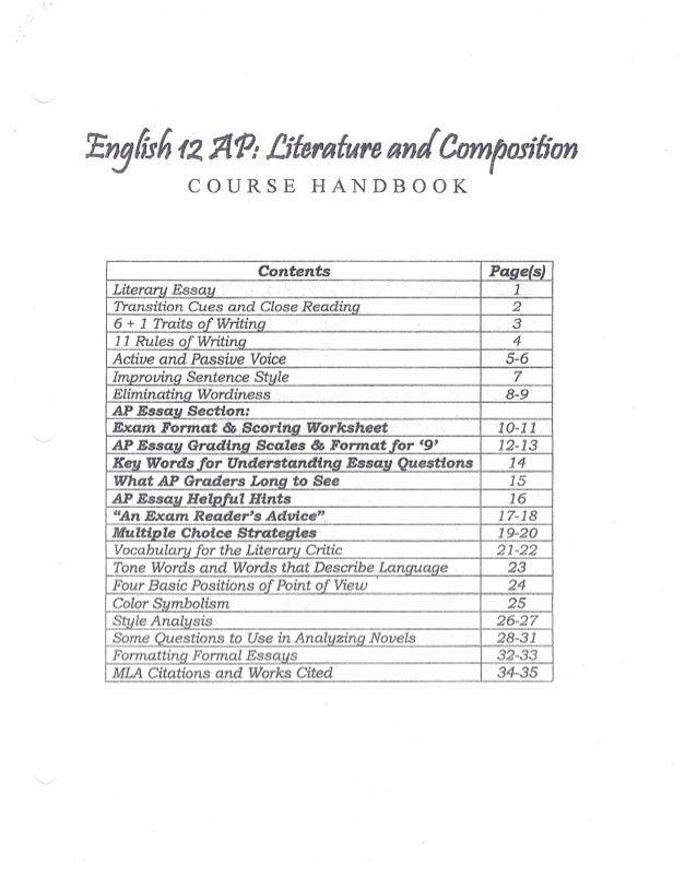 Ap Literature Rubric Essays English Literature Poem Essays Ap English  Literature And Composition Sample