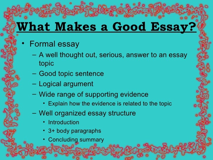 Any topic for essay