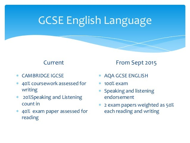 gcse english coursework mark scheme