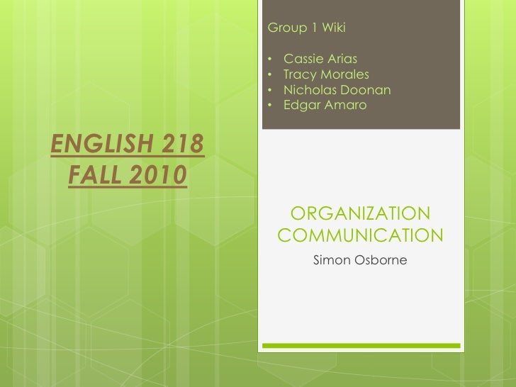 Organization Communication SlideShow