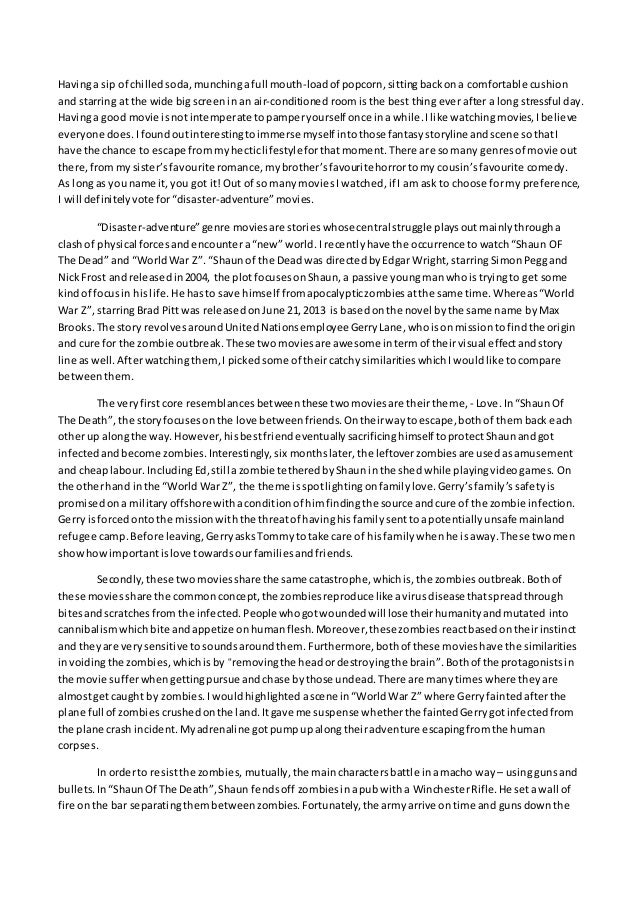 comparing into battle essay