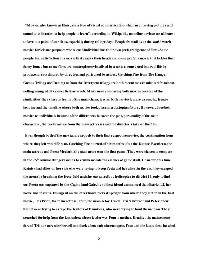 College Essay Paper Format What S Better Movies Or Books A Vivid Sample Essay  How To Write An Essay Proposal Example also Health Essay Writing Movies Essay Essays Types Of Movies My Country Sri Lanka Essay English