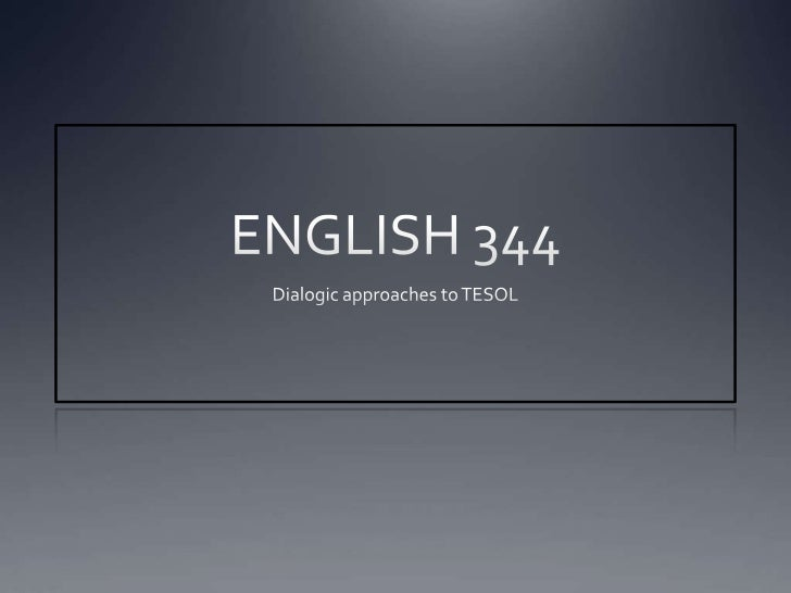 English 344 dialogism
