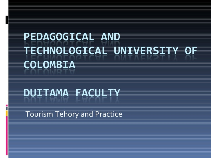 Tourism Tehory and Practice