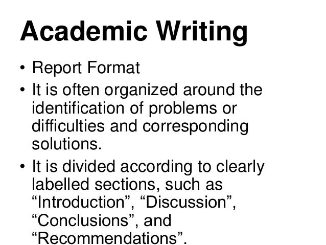writing academic essays and reports Writing academic essays and reports about the course/seminar the ability to write academic essays and reports well is an essential skill for success in many careers.