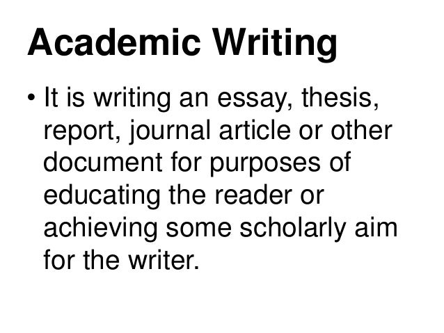 Introducing You to the Scholarly Style of Writing